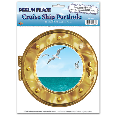 "Cruise Ship Porthole Peel 'N Place, Size 12"" x 15"" Sh"