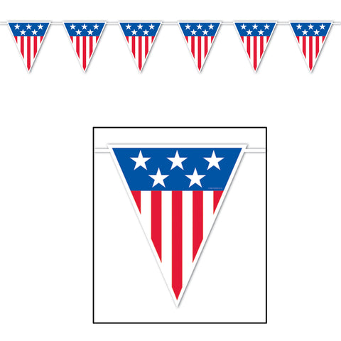"American Spirit Giant Pennant Banner, Size 23"" x 12'"