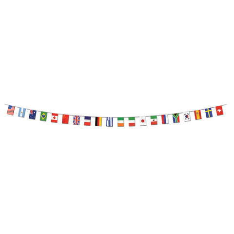 "International Flag Pennant Banner, Size 12"" x 23'"