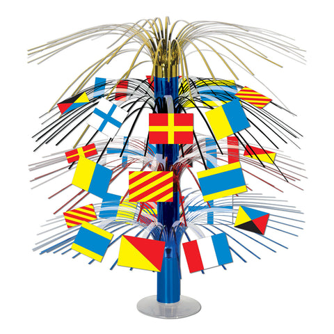 Nautical Flag Cascade Centerpiece, Size 18""