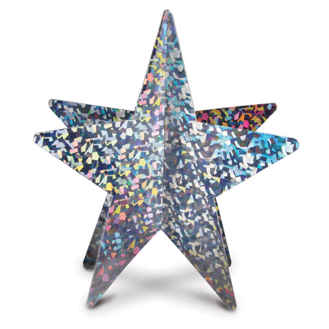 3-D Prismatic Star Centerpiece, Size 12""