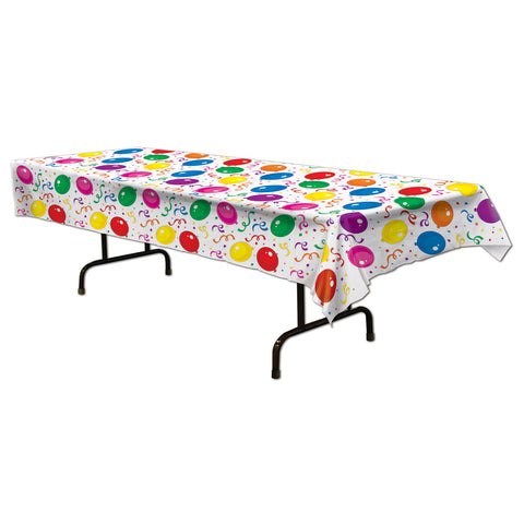 "Balloons & Confetti Tablecover, Size 54"" x 108"""