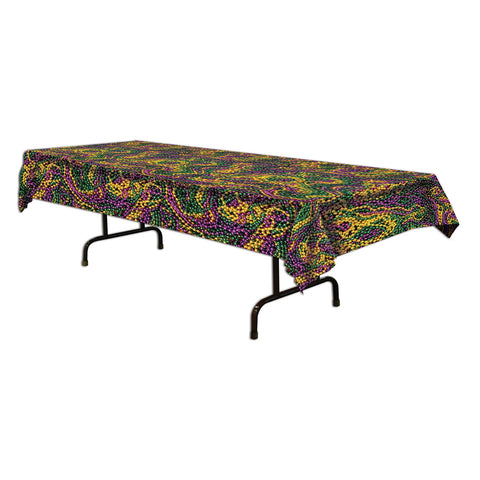 "Mardi Gras Collares Tablecover, Size 54"" x 108"""