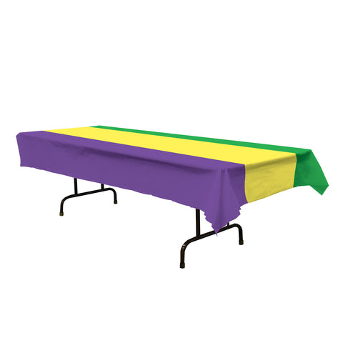 "Mardi Gras Tablecover, Size 54"" x 108"""