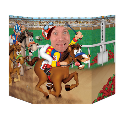 "Horse Racing Photo Prop, Size 3' 1"" x 25"""