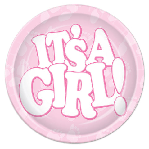 It's A Girl! Plates, Size 9""