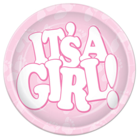 It's A Girl! Plates, Size 7""