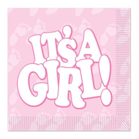 It's A Girl! Beverage Napkins