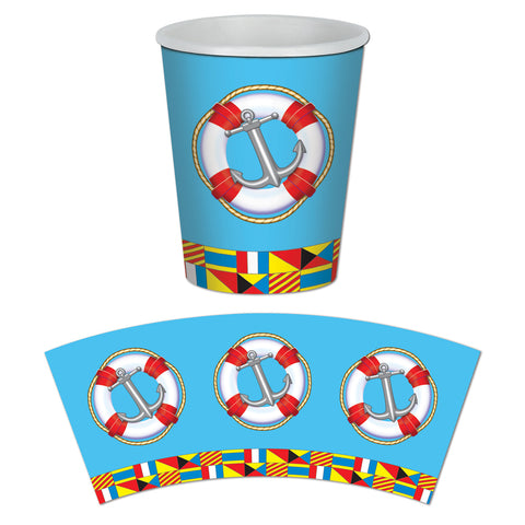 Nautical Beverage Cups, Size 9 Oz