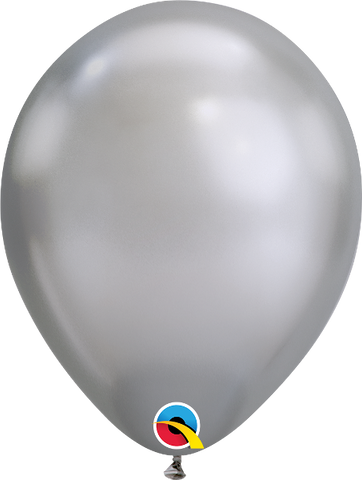 "Globos de 11"" Chrome Latex Plata (silver) pk. 100 un."