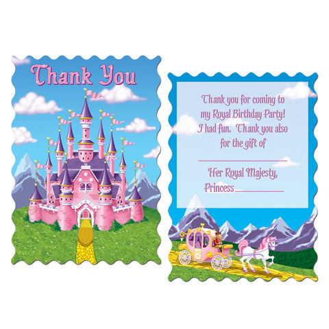 "Princess Party Thank You Notes, Size 4"" x 5½"""