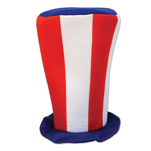 Patriotic Plush Tall Top Hat, Size 16""