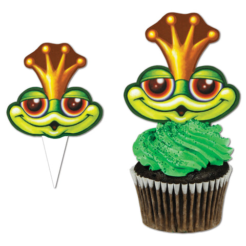 Frog Cupcake Picks, Size 4""