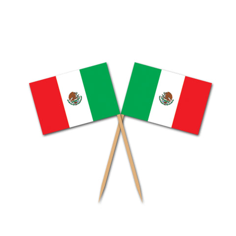Mexican Flag Picks, Size 2½""