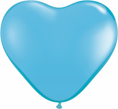 "06"" Corazon Azul Claro, Latex Solido"