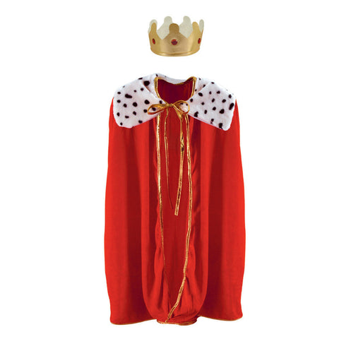 Child King/Queen Robe w/Crown, Size 33""