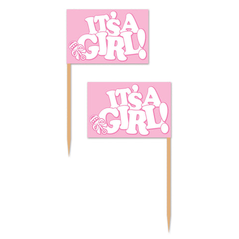 It's A Girl! Picks, Size 2½""