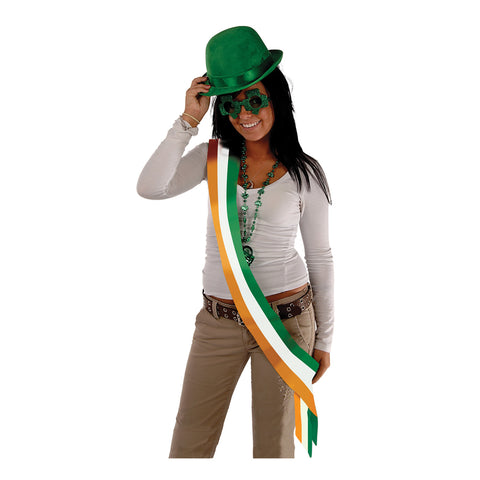 "Irish Satin Sash, Size 33"" x 4"""
