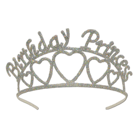 Glittered Metal Birthday Princess Tiara
