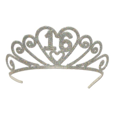 Glittered Metal  16  Tiara