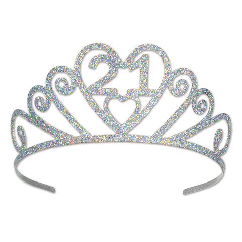 Glittered Metal  21  Tiara