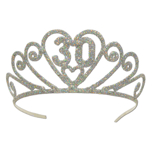 Glittered Metal  30  Tiara