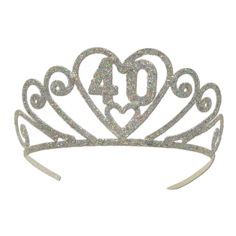 Glittered Metal  40  Tiara