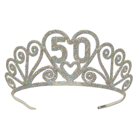 Glittered Metal  50  Tiara