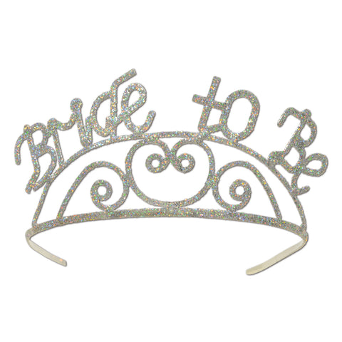 Glittered Metal Bride To Be Tiara