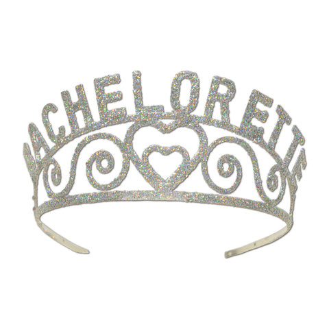 Glittered Metal Bachelorette Tiara