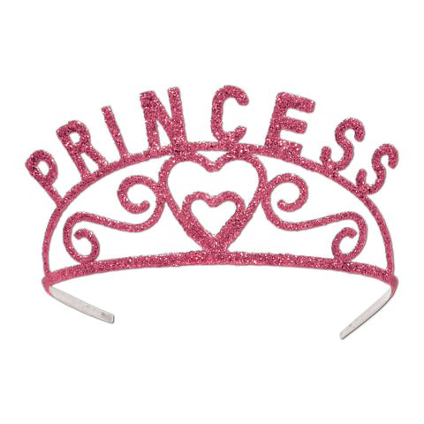 Glittered Metal Princess Tiara