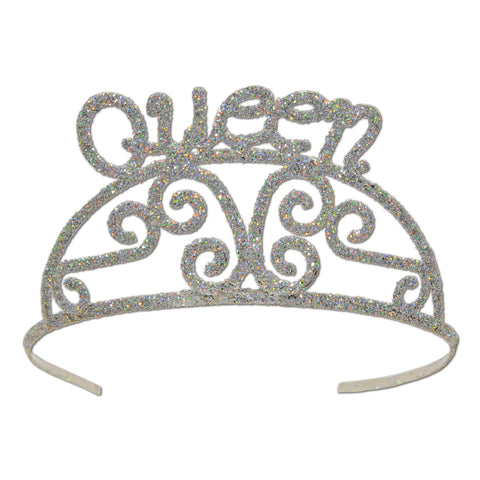 Glittered Metal Queen Tiara