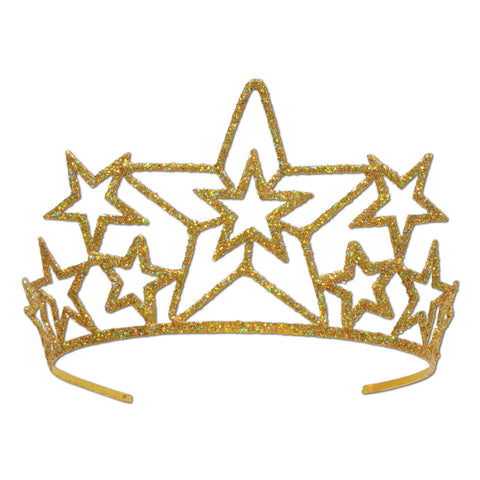 Glittered Metal Star Tiara
