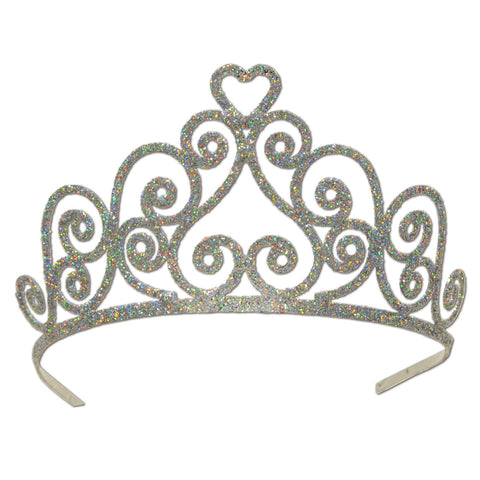 Glittered Metal Tiara