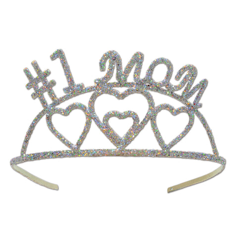 Glittered Metal #1 Mom Tiara