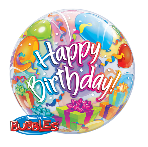 "22"" Burbuja, Happy Birthday, Sorpresa de Regalos"