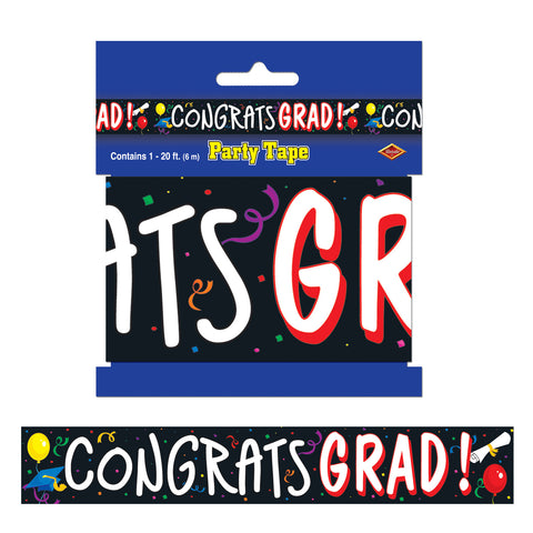 "Congrats Grad Party Tape, Size 3"" x 20'"