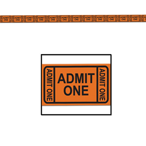 "Admission Ticket Tape Poly Dec Material, Size 3"" x 50'"