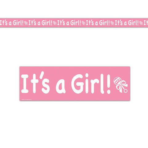 "It's A Girl! Party Tape, Size 3"" x 20'"