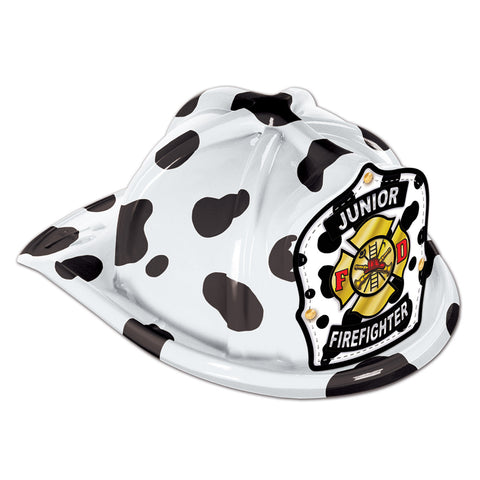 Dalmatian Plastic Jr Firefighter Hat