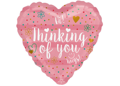 "9"" Corazón, Amor, Diseño Thinking Of You Coral Heart"