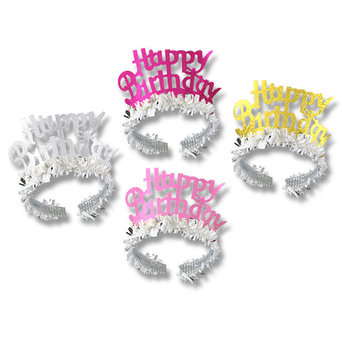 Happy Birthday Coronas, Tiaras w/Fringe