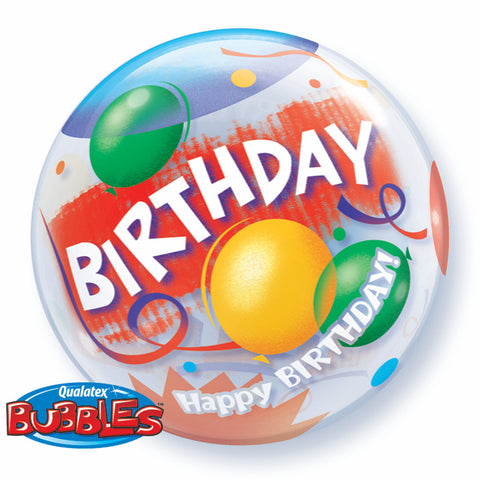"22"" Burbuja Happy Birthday con Globos"