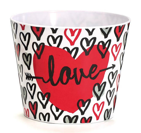 Pot Cover #6 Love Hearts Valentine Melamine