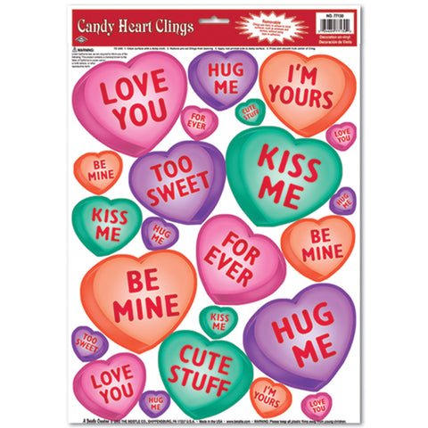 "Candy Heart Adherivos, Size 12"" x 17"" Sh"