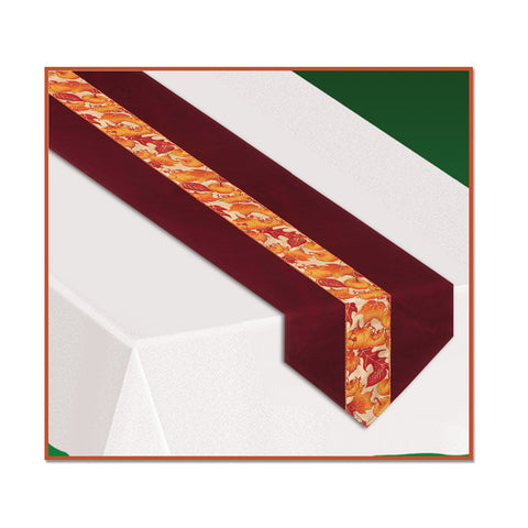 "Autumn Leaves Fabric Table Runner, Size 12"" x 6'"
