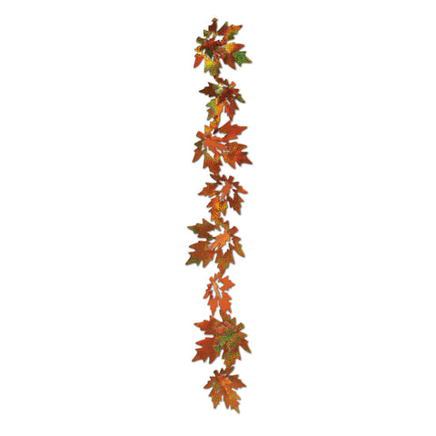 3-D Prismatic Leaf Gleam 'N Garland, Size 21""