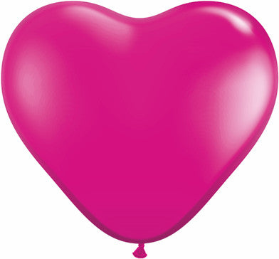 "06"" Corazon Magenta Joya, Latex Solido"