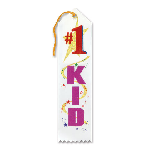 "#1 Kid Award Ribbon, Size 2"" x 8"""