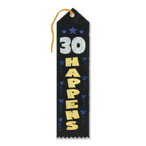 "30 Happens Award Ribbon, Size 2"" x 8"""